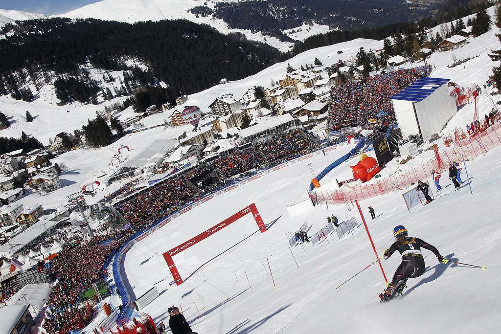 . Mikaela Shiffrin of the USA takes 1st place during the Audi FIS Alpine Ski World Cup Women\'s Slalom on March 16, 2013 in Lenzerheide, Switzerland. (Photo by Alexis Boichard/Agence Zoom/Getty Images)