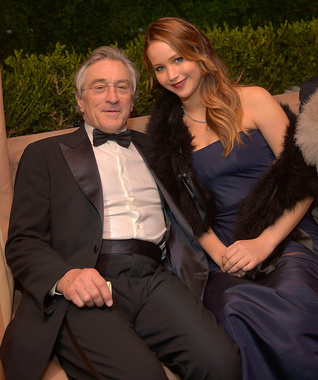 . Actor Robert De Niro (L) and actress Jennifer Lawrence attend The Weinstein Company\'s SAG Awards After Party Presented By FIJI Water at Sunset Tower on January 27, 2013 in West Hollywood, California.  (Photo by Charley Gallay/Getty Images for TWC)