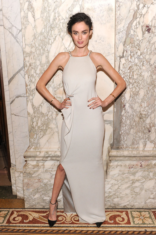 . NEW YORK, NY - JUNE 13:  Model Nicole Trunfio attends the 4th Annual amfAR Inspiration Gala New York at The Plaza Hotel on June 13, 2013 in New York City.  (Photo by Jamie McCarthy/Getty Images)