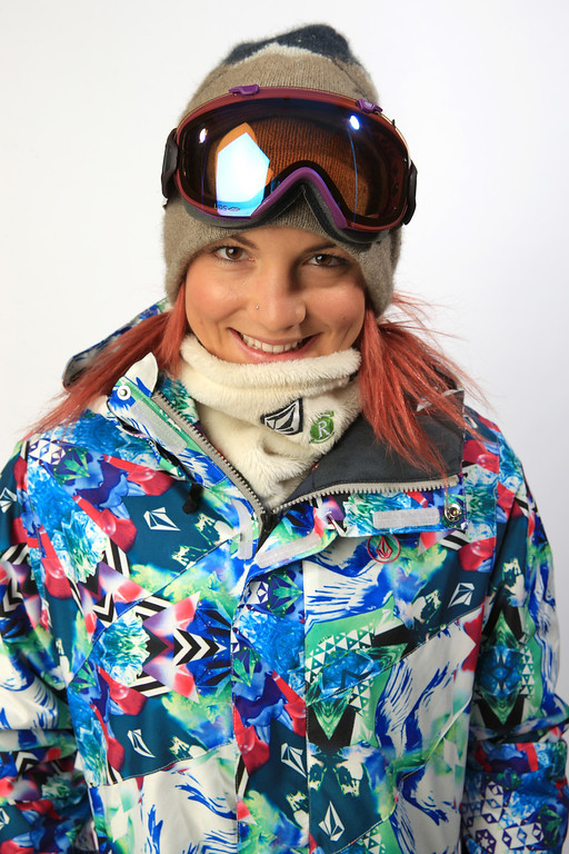 . Snowboarder Elena Hight poses for a portrait during the USOC Media Summit ahead of the Sochi 2014 Winter Olympics on October 2, 2013 in Park City, Utah.  (Photo by Doug Pensinger/Getty Images)