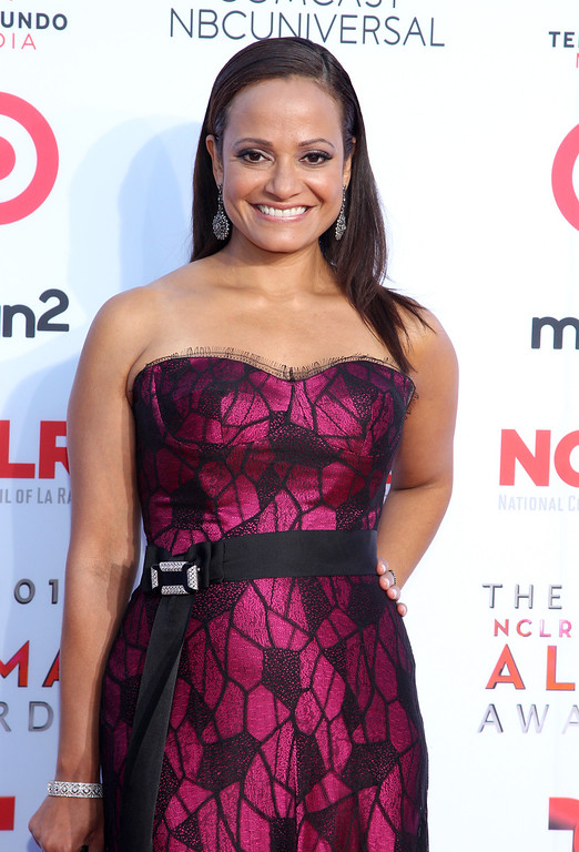 . Judy Reyes arrives at the NCLR ALMA Awards at the Pasadena Civic Auditorium on Friday, Sept. 27, 2013, in Pasadena, Calif. (Photo by Paul Hebert/Invision/AP Images)