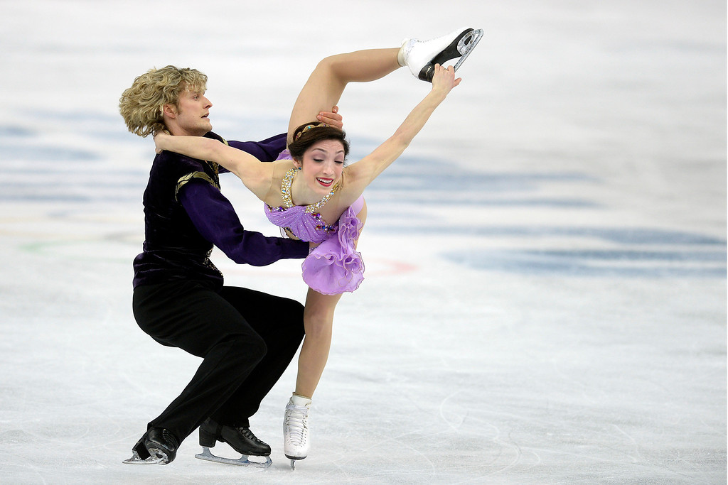 . American gold medalists Charlie White and Meryl Davis perform during the figure skating ice dancing free dance medal round. Sochi 2014 Winter Olympics on Monday, February 17, 2014. (Photo by AAron Ontiveroz/The Denver Post)