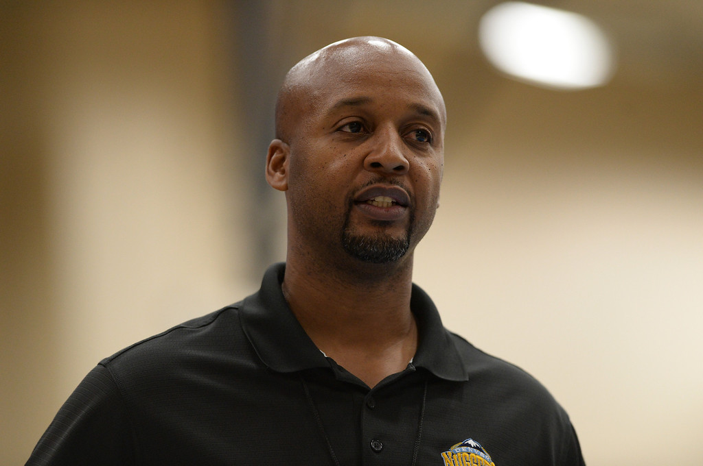 . Denver Nuggets head coach Brian Shaw in team practice at Pepsi Center. Denver, Colorado. October 2, 2013. (Photo by Hyoung Chang/The Denver Post)