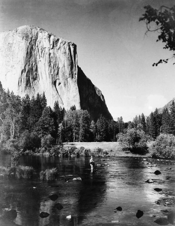 . El Capitan in Yosemite National Park, California is shown, April 1935. (AP Photo)