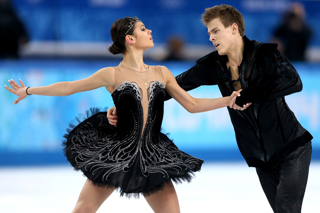 . Elena Ilinykh and Nikita Katsalapov of Russia compete in the Figure Skating Ice Dance Free Dance on Day 10 of the Sochi 2014 Winter Olympics at Iceberg Skating Palace on February 17, 2014 in Sochi, Russia.  (Photo by Matthew Stockman/Getty Images)