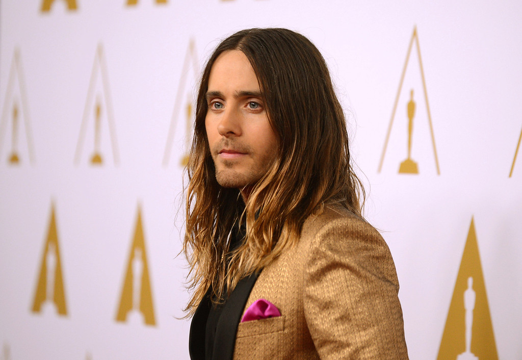 ". 2014 Academy Award Nominee for Best Actor in a Supporting Role: Jared Leto in ""Dallas Buyers Club.\"" (Photo by Jordan Strauss/Invision/AP)"