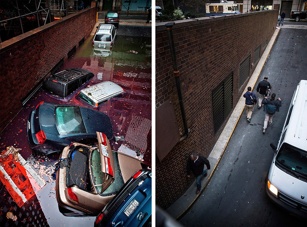PHOTOS: Hurricane Sandy: Then And Now