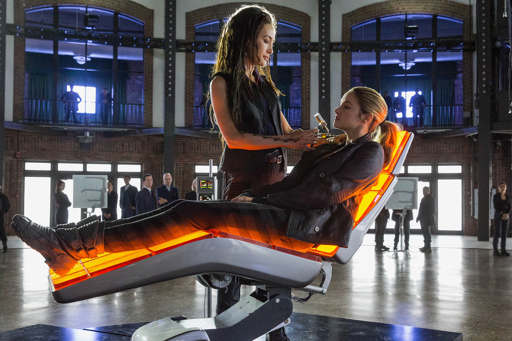 . MAGGIE Q AND SHAILENE WOODLEY star in DIVERGENT