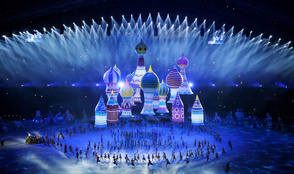 . Artists perform during the opening ceremony of the 2014 Winter Olympics in Sochi, Russia, Friday, Feb. 7, 2014. (AP Photo/Mark Humphrey)