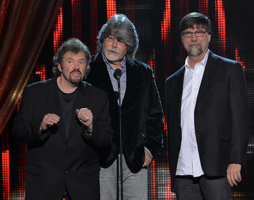 . NASHVILLE, TN - DECEMBER 03: (L-R) Jeff Cook, Randy Owen and Teddy Gentry of Alabama present at CMT Artists Of The Year 2013 at Music City Center on December 3, 2013 in Nashville, Tennessee.  (Photo by Rick Diamond/Getty Images for CMT)