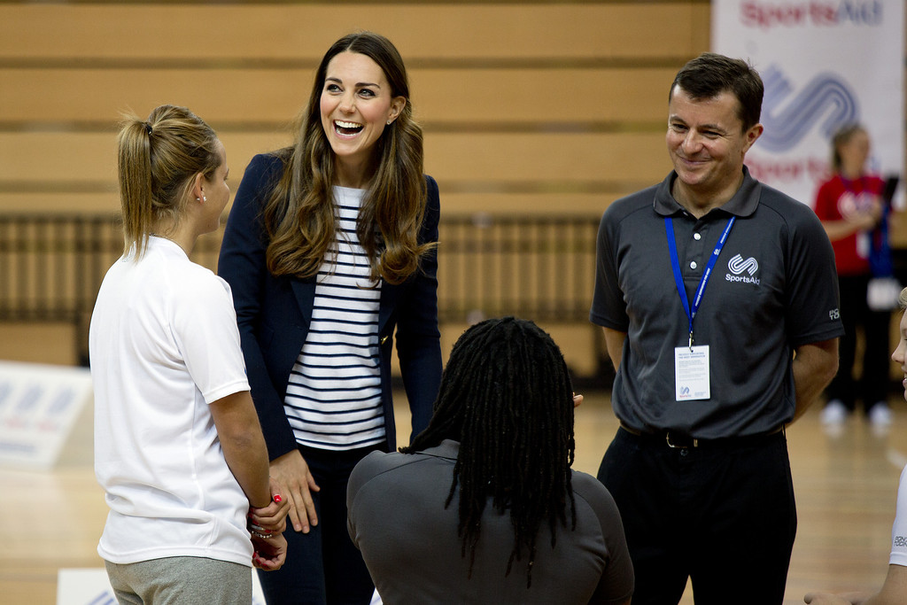 . Catherine, Duchess of Cambridge attends a SportsAid Athlete Workshop at Queen Elizabeth Olympic Park on October 18, 2013 in London, England.  (Photo by David Bebber - WPA Pool /Getty Images)