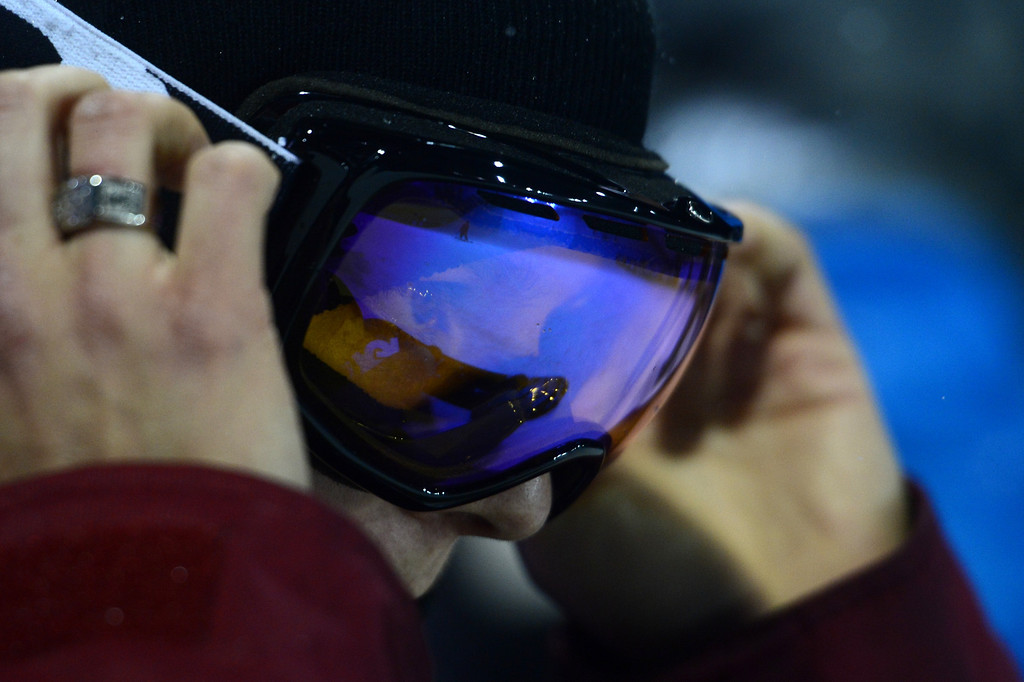 . ASPEN, CO - JANUARY 26: Kelly Clark prepares for a run during the women\'s snowboard superpipe final. X Games Aspen Buttermilk Mountain January 26, 2013. (Photo By AAron Ontiveroz/ The Denver Post)