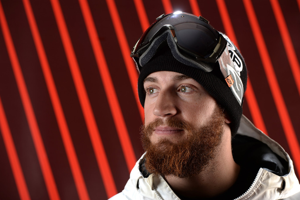 . Snowboarder Scotty Lago poses for a portrait during the USOC Media Summit ahead of the Sochi 2014 Winter Olympics on October 2, 2013 in Park City, Utah.  (Photo by Harry How/Getty Images)
