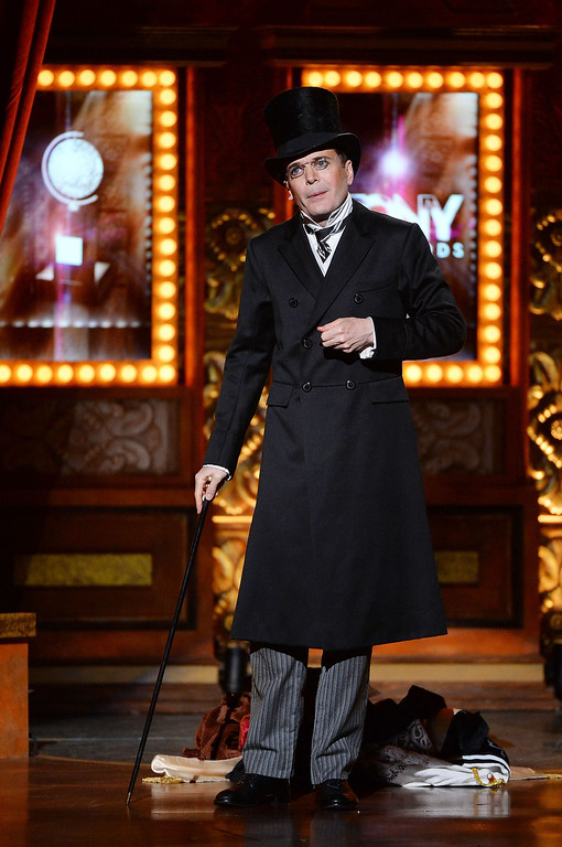 """. Actor Jefferson Mays performs \""""A Gentleman\'s Guide to Love and Murder\"""" onstage during the 68th Annual Tony Awards at Radio City Music Hall on June 8, 2014 in New York City.  (Photo by Theo Wargo/Getty Images for Tony Awards Productions)"""