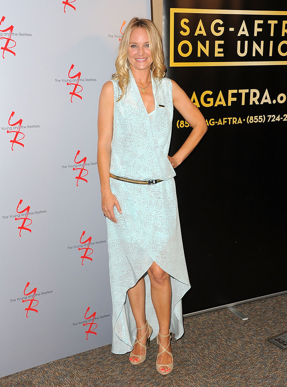 ". Actress Sharon Case attends the 40 years of ""The Young and The Restless\"" celebration presented by SAG-AFTRA at SAG-AFTRA on June 4, 2013 in Los Angeles, California.  (Photo by Angela Weiss/Getty Images)"