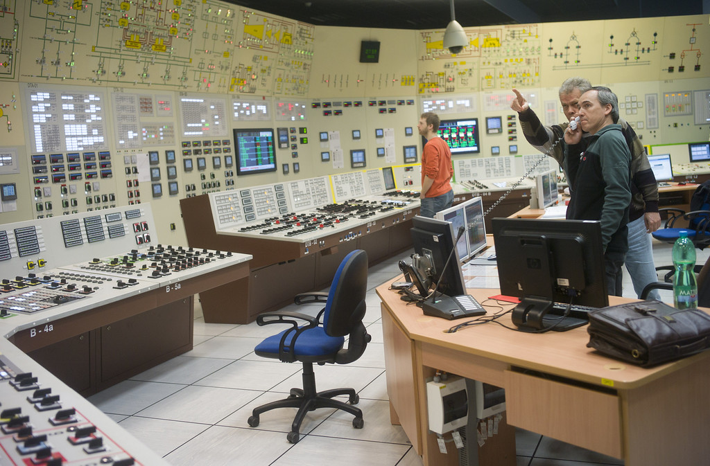 . Workers of Dukovany nuclear power plant are pictured during a nuclear accident exercise on March 26, 2013 in Dukovany nuclear power plant, 50km from the city of Brno. MICHAL CIZEK/AFP/Getty Images