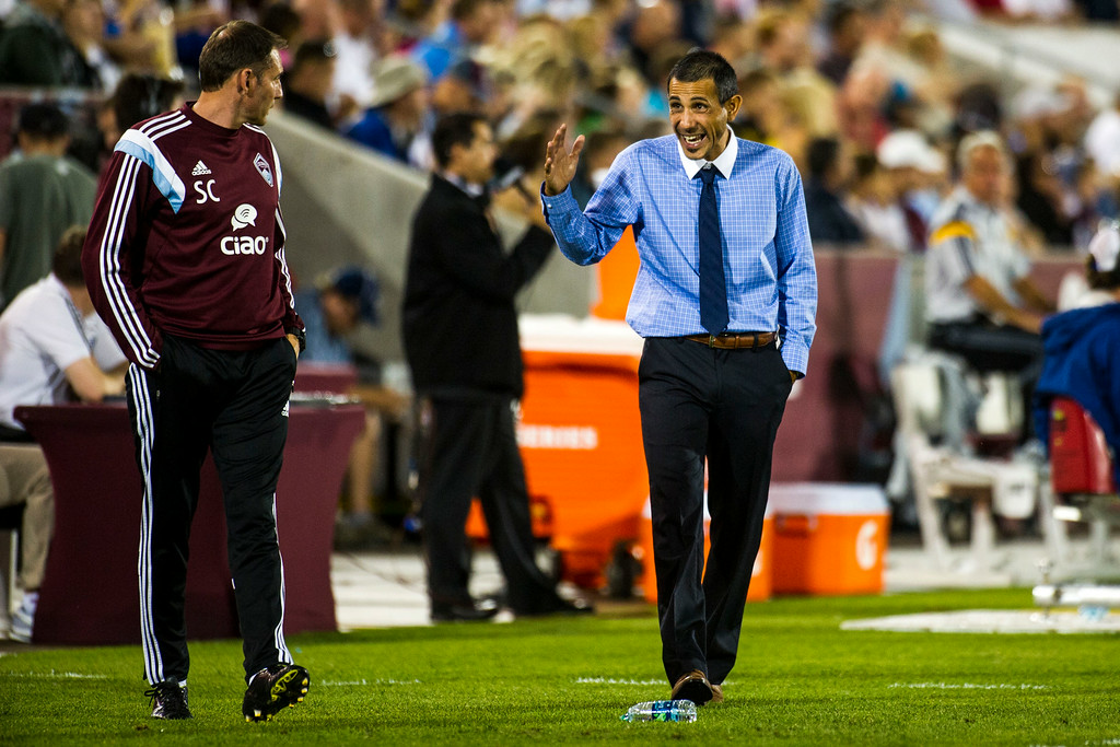 . COMMERCE CITY, CO - AUGUST 20:  Pablo Mastroeni head coach of the Colorado Rapids is seen on the sidelines during a Major League Soccer game at Dick\'s Sporting Goods Park on Wednesday, August 20, 2014 in Commerce City, Colorado.  Director Comey\'s visit to the Dick\'s Sporting Goods Park is part of his plan to visit all FBI Field Offices in his first year as director.  (Photo by Kent Nishimura/The Denver Post)