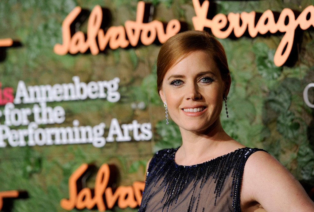 . Actress Amy Adams arrives at the Wallis Annenberg Center for the Performing Arts Inaugural Gala on Thursday, Oct. 17, 2013, in Beverly Hills, Calif. (Photo by Chris Pizzello/Invision/AP)