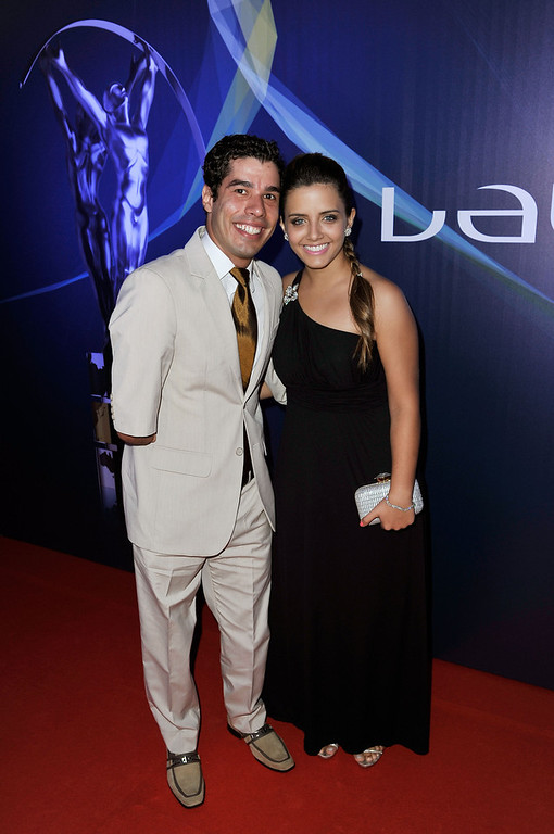 . Daniel Dias and guest attends the 2013 Laureus World Sports Awards at the Theatro Municipal Do Rio de Janeiro on March 11, 2013 in Rio de Janeiro, Brazil.  (Photo by Gareth Cattermole/Getty Images For Laureus)