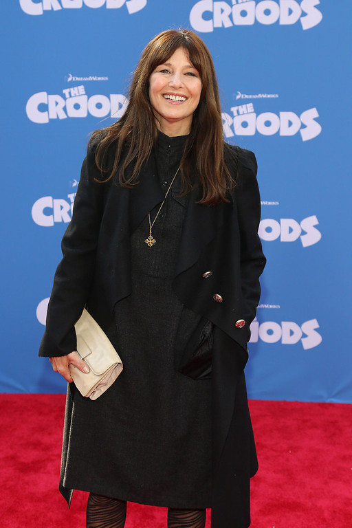 """. Actress Catherine Keener attends \""""The Croods\"""" premiere at AMC Loews Lincoln Square 13 theater on March 10, 2013 in New York City.  (Photo by Neilson Barnard/Getty Images)"""