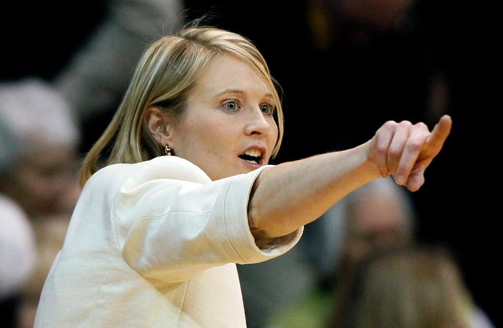 . Colorado head coach Linda Lappe directs her team against Stanford in the first half of an NCAA women\'s college basketball game in Boulder, Colo., on Friday, Jan. 4, 2013. (AP Photo/David Zalubowski)