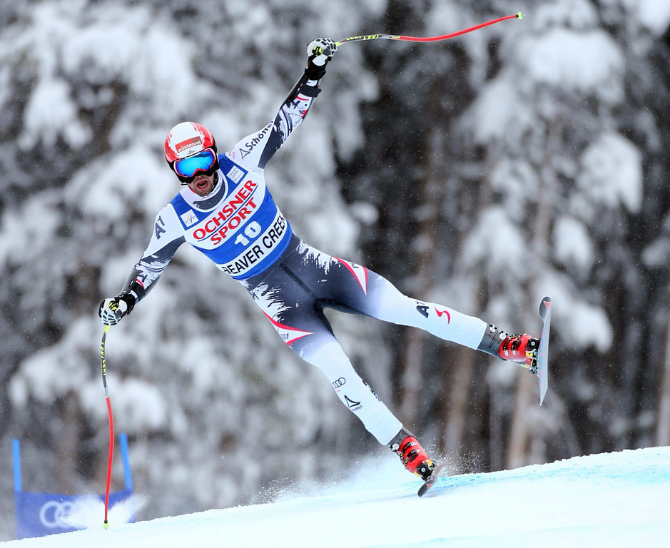 . France\'s Gauthier De Tessieres in action during the Men\'s Super G at the FIS Alpine Skiing World Cup in Beaver Creek, Colorado, USA, 07 December 2013.  EPA/George Frey