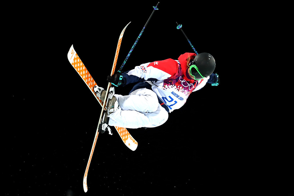 . Emma Lonsdale of Great Britain competes in the Freestyle Skiing Ladies\' Ski Halfpipe Qualification on day thirteen of the 2014 Winter Olympics at Rosa Khutor Extreme Park on February 20, 2014 in Sochi, Russia.  (Photo by Streeter Lecka/Getty Images)