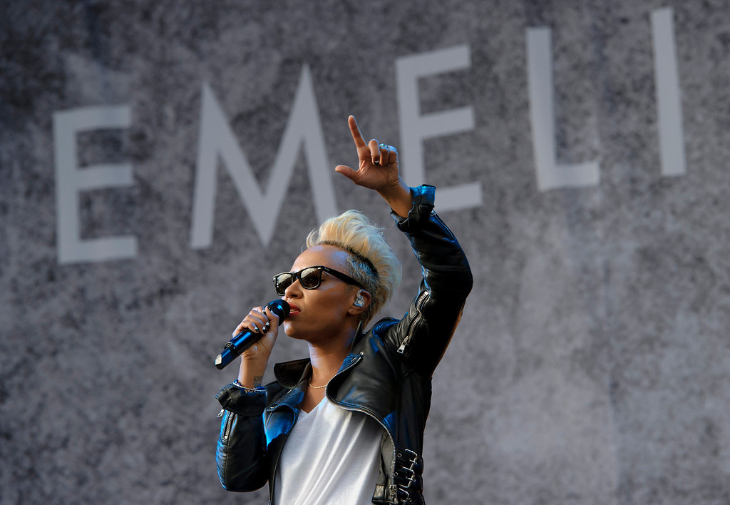 . British singer Emeli Sand� performs at the V Festival in Chelmsford, England, Sunday, Aug. 18, 2013. (Photo by Jonathan Short/Invision/AP)