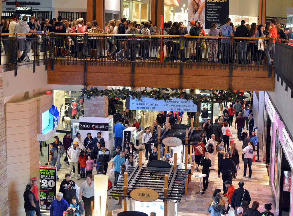 . Shoppers filled at FlatIron Crossing mall while shopping for Black Friday on Thursday, November 28, 2013.David R. Jennings/Boulder Daily Camera