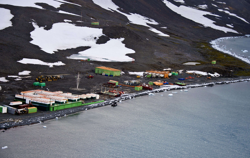 . View of Brazil\'s Comandante Ferraz base, in Antarctica on March 10, 2014.    AFP PHOTO / VANDERLEI ALMEIDA /AFP/Getty Images