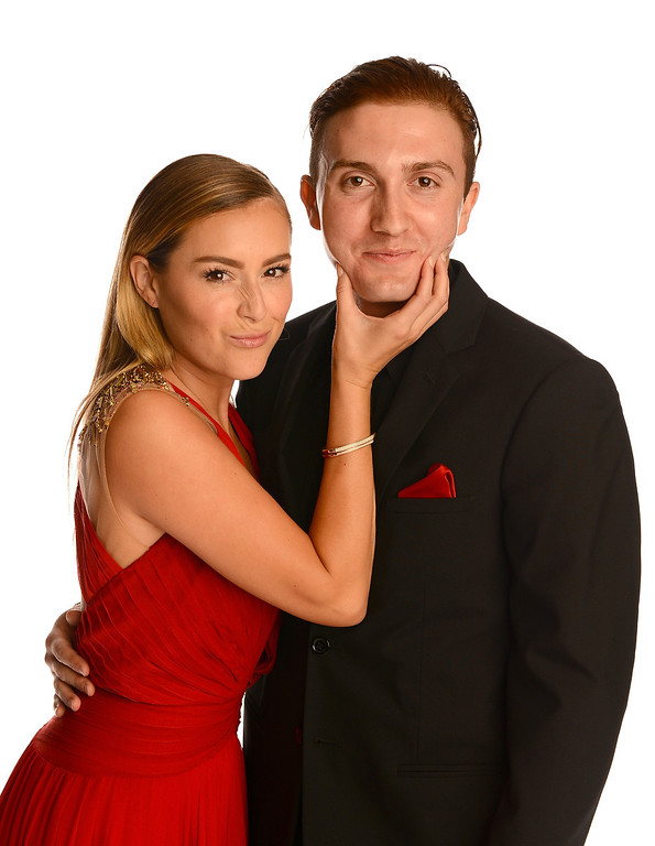 . PASADENA, CA - SEPTEMBER 27:  Actors Alexa Vega (L) and Daryl Sabara pose in the portrait studio during the 2013 NCLR ALMA Awards at Pasadena Civic Auditorium on September 27, 2013 in Pasadena, California.  (Photo by Mark Davis/Getty Images for NCLR)