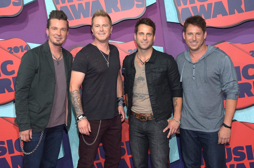 . Musicians Josh McSwain, Scott Thomas, Barry Knox and Matt Thomas of Parmalee attend the 2014 CMT Music awards at the Bridgestone Arena on June 4, 2014 in Nashville, Tennessee.  (Photo by Michael Loccisano/Getty Images)
