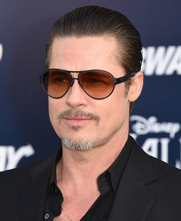 . Actor Brad Pitt attends the World Premiere of Disney\'s \'Maleficent\' at the El Capitan Theatre on May 28, 2014 in Hollywood, California.  (Photo by Jason Merritt/Getty Images)