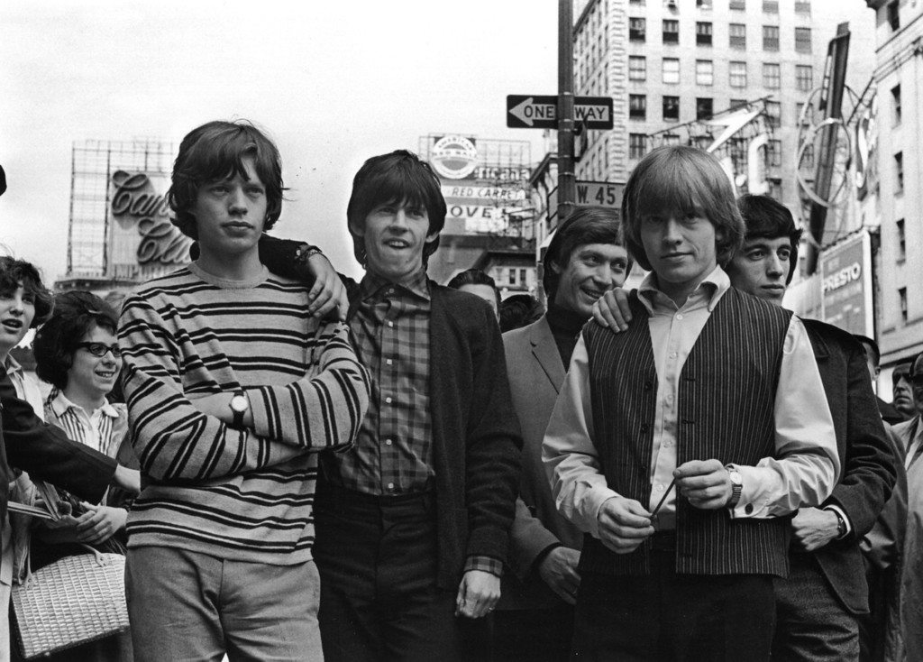 . The Rolling Stones, formed in 1962, released their first album fifty years ago on April 16, 1964 in the UK and May 30, 1964 in the US. British rock group The Rolling Stones in New York. From left to right: Mick Jagger, Keith Richards, Charlie Watts, Brian Jones (1942 - 1969), and Bill Wyman.   (Photo by William Lovelace/Getty Images)