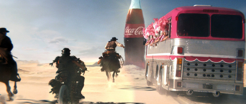 . This frame grab provided by Coca Cola, shows a moment in the Super Bowl 2013 Coca Cola campaign.  You don\'t have to be a football player to be a part of the action on Super Bowl Sunday. Coca-Cola is asking people to vote for an online match between three groups competing for a Coke on Game Day.   (AP Photo/Coca Cola)