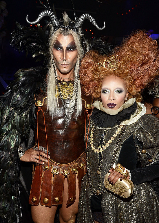 . Jay Manuel and June Ambrose attend Shutterfly Presents Heidi Klum\'s 14th Annual Halloween Party sponsored by SVEDKA Vodka and smartwater at Marquee on October 31, 2013 in New York City.  (Photo by Mike Coppola/Getty Images for Heidi Klum)