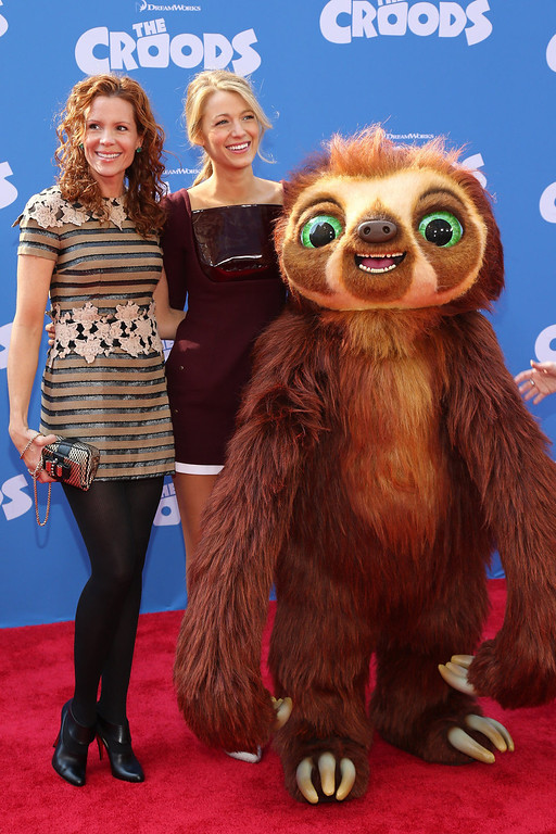 """. Actors Robyn Lively and Blake Lively attend \""""The Croods\"""" premiere at AMC Loews Lincoln Square 13 theater on March 10, 2013 in New York City.  (Photo by Neilson Barnard/Getty Images)"""