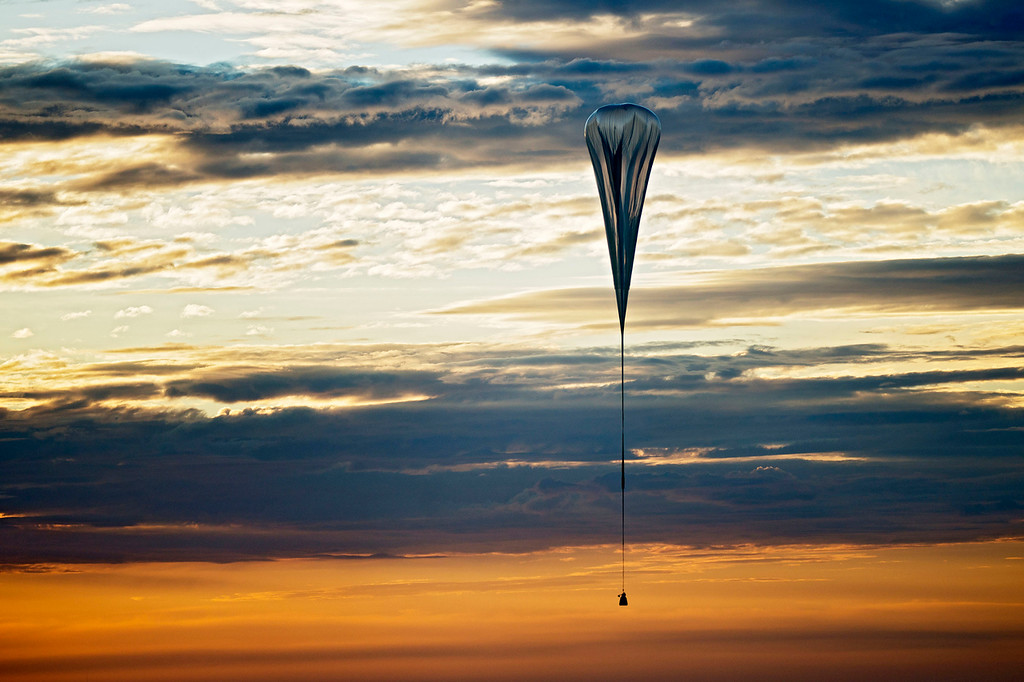 . The balloon carrying Pilot Felix Baumgartner of Austria lifts off during the second manned test flight for Red Bull Stratos on July 25, 2012 in Roswell, New Mexico.�Red Bull Stratos is a mission to the edge of space to an altitude of 37.000 meters to break several records including the sound of speed in freefall. (Photo by Joerg Mitter/Red Bull via Getty Images)