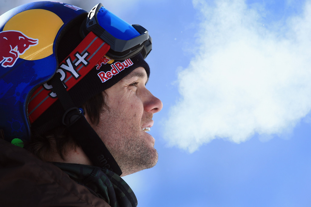 . Louie Vito looks on as he finished fourth in the men\'s snowboard superpipe final at the Dew Tour iON Mountain Championships on December 14, 2013 in Breckenridge, Colorado.  (Photo by Doug Pensinger/Getty Images)