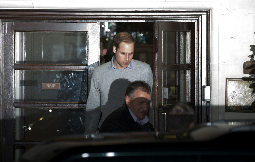 . Britain\'s Prince William, Duke of Cambridge, leaves the King Edward the VII hospital in London on December 3, 2012, where his wife Catherine, the Duchess of Cambridge, is resting for suffering from severe morning sickness. Prince William and his wife Catherine announced they are expecting their first child, ending fevered speculation about a baby destined to become Britain\'s monarch whether it is a boy or a girl.  JUSTIN TALLIS/AFP/Getty Images