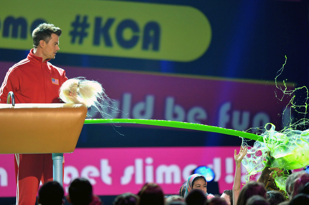 . Host Josh Duhamel speaks onstage at the 26th annual Nickelodeon\'s Kids\' Choice Awards on Saturday, March 23, 2013, in Los Angeles. (Photo by John Shearer/Invision/AP)