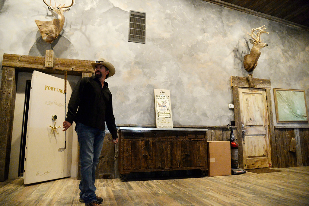 . KERSEY, CO - AUGUST 14: Todd Helton walks through his barn during his first year of retirement from the Colorado Rockies. Former Colorado Rockies first baseman Todd Helton was photographed at his ranch on Thursday, August 14, 2014. (Photo by AAron Ontiveroz/The Denver Post)