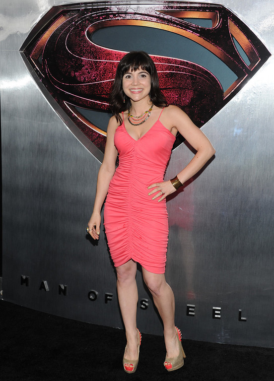 """. Actress Christina Wren attends the \""""Man Of Steel\"""" world premiere at Alice Tully Hall on Monday, June 10, 2013 in New York. (Photo by Evan Agostini/Invision/AP)"""