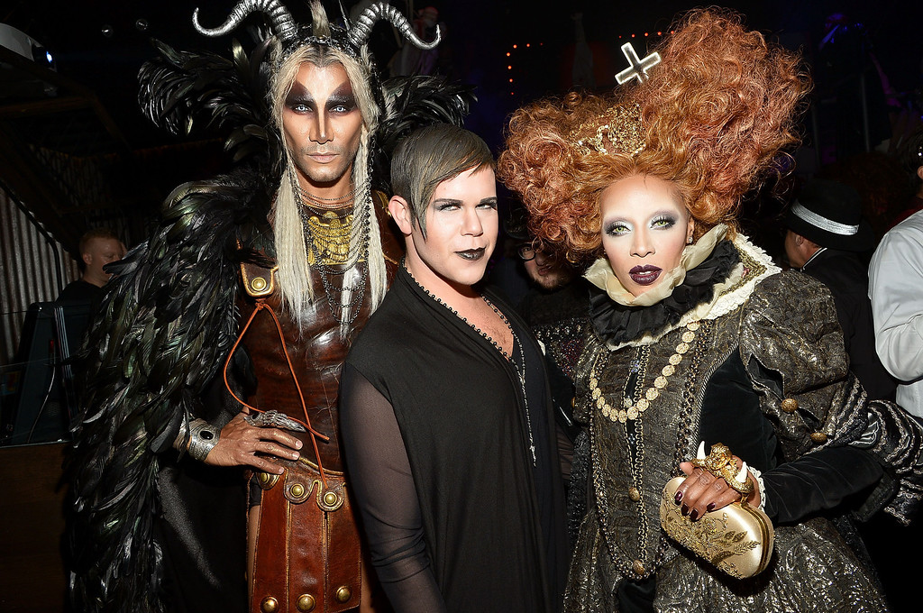 . Jay Manuel, Andrew Werner and June Ambrose attend Shutterfly Presents Heidi Klum\'s 14th Annual Halloween Party sponsored by SVEDKA Vodka and smartwater at Marquee on October 31, 2013 in New York City.  (Photo by Mike Coppola/Getty Images for Heidi Klum)