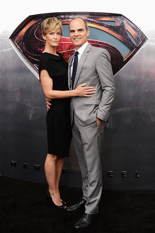 """. Actress Robin Wright and Actor Michael Kelly attend the \""""Man Of Steel\"""" world premiere at Alice Tully Hall at Lincoln Center on June 10, 2013 in New York City.  (Photo by Andrew H. Walker/Getty Images)"""
