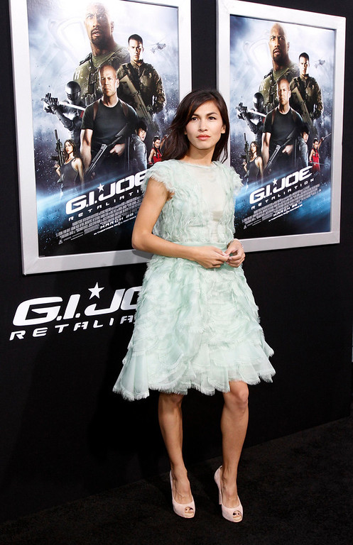 ". Cast member Elodie Yung poses at the premiere of ""G.I. Joe: Retaliation\"" in Hollywood, California March 28, 2013. The movie opens in the U.S. on March 28.   REUTERS/Mario Anzuoni"