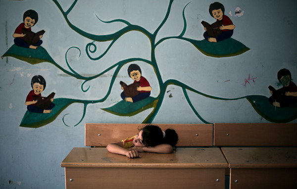 PHOTOS: Palestinian children facing displacement in Gaza