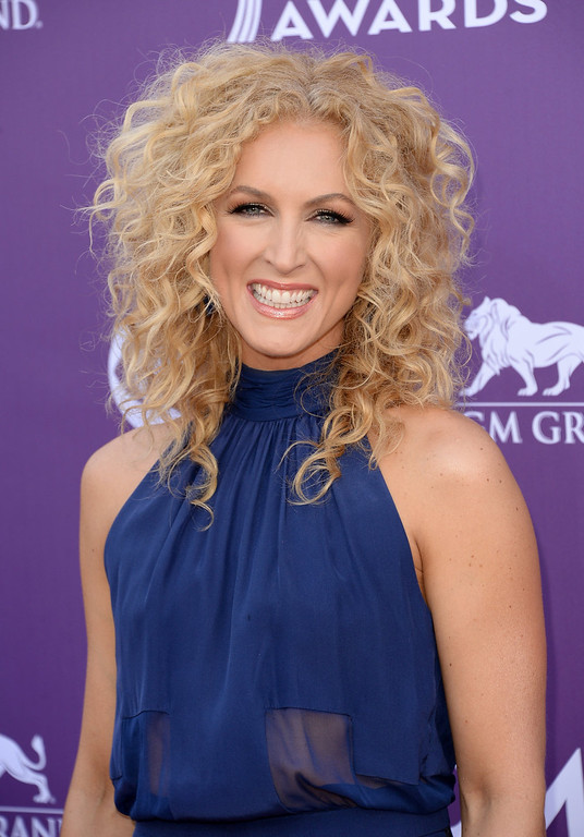 . Kimberly Schlapman of music group Little Big Town arrives at the 48th Annual Academy of Country Music Awards at the MGM Grand Garden Arena on April 7, 2013 in Las Vegas, Nevada.  (Photo by Jason Merritt/Getty Images)