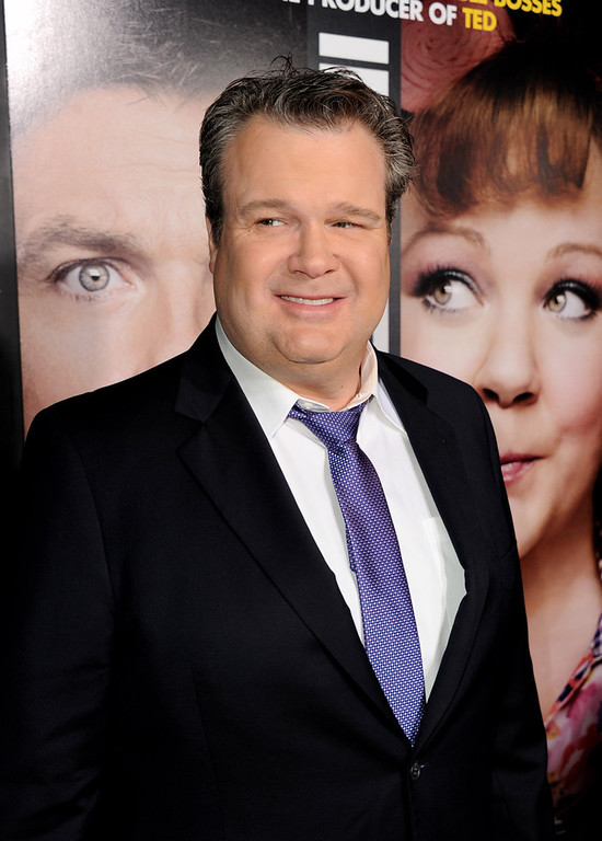 ". Actor Eric Stonestreet arrives at the premiere of Universal Pictures\' ""Identity Theft\"" at the Village Theatre on February 4, 2013 in Los Angeles, California.  (Photo by Kevin Winter/Getty Images)"