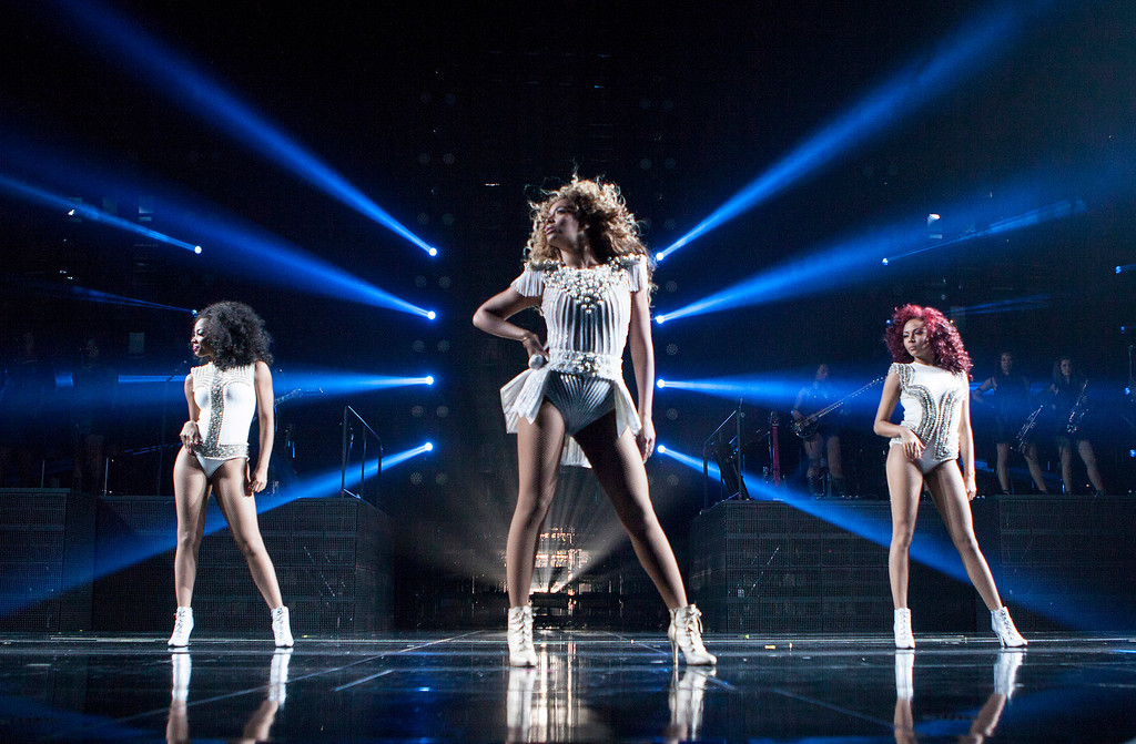 . Singer Beyonce performs during her Mrs. Carter Show World Tour 2013 on Friday, August 2, 2013 at the Mohegan Sun Arena in Uncasville, Connecticut. (Photo by Rob Hoffman/Invision for Parkwood Entertainment/AP Images)